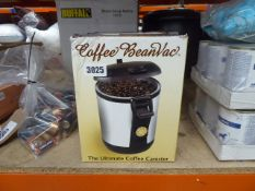 2 Electronic coffee bean vac bean canisters