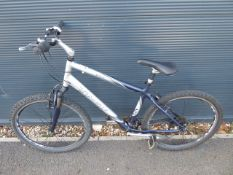 4031 Silver and blue Trek mountain cycle
