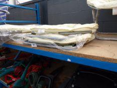 4065 2 cream folding garden chairs