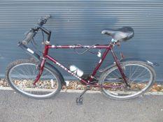 Maroon Raleigh gents cycle