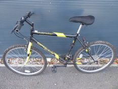 Apollo black and yellow gents mountain cycle