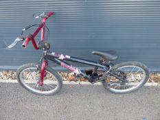 Black and burgundy BMX
