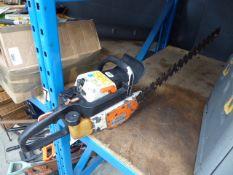 Stihl petrol powered hedge cutter