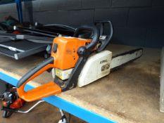 Stihl petrol powered chainsaw