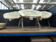4064 3 cream folding garden chairs