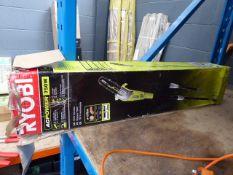 Boxed Ryobi electric pole saw
