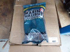 Box of large fish pellets