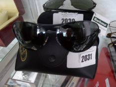 Pair of ray ban sunglasses with carry case model RB3526