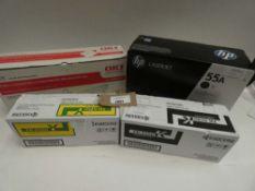 Bag containing quantity of toner cartridges