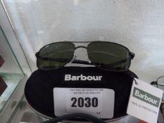 Cased pair of Barbour sunglasses