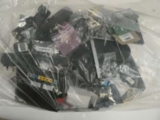 Bag containing quantity of various electrical related accessories; routers, adapters, etc