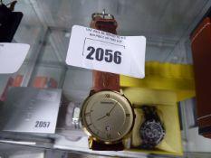 Sekonda brown leather strap wrist watch