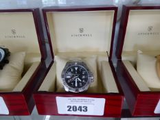 Stockwell stainless steel strap automatic gents wrist watch