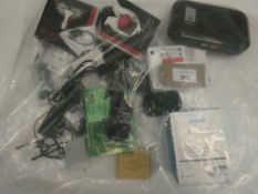 Bag containing quantity of miscellanous electrical related accessories/devices