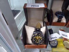 La Banus rope patterned edge bezel wrist watch with box