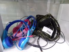 Selection of plantronics and and motorola headsets