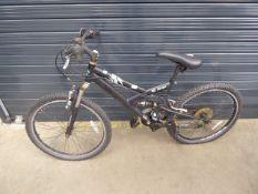 Childs small black suspension bike