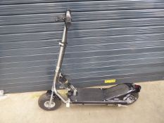 Electric scooter with key and charger