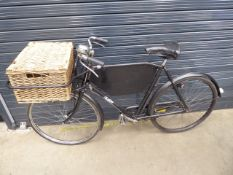 4032 Black Brita style bike with front basket