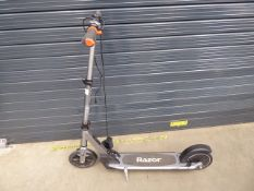 Razor electric scooter in grey with charger