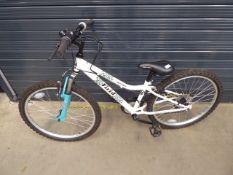 Small girls white Apollo bike