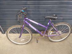 Purple girls mountain bike