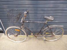 Black gents vintage bike with front basket