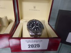 Stockwell mens automatic watch with stainless steel strap