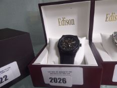 Hexagon Roadster gents automatic watch with box