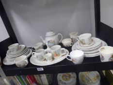 Mixture of porcelain collectables by Wedgwood and others to include teapot, cups, plates, bowls, etc