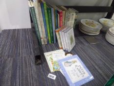 Selection of Beatrix Potter themed books along with Beatrix Potter DVD collection and various
