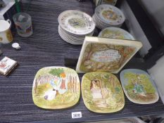 Large selection of Peter Rabbit themed and Beatrix Potter character themed Wedgwood and other