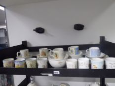 Selection of Wedgwood Beatrix Potter themed cups, bowls, etc to include approximately 30 or more