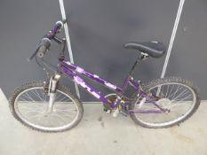 4026 Girl's mountain bike in purple