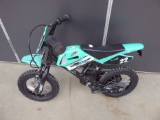4032 Small green motorcycle-style childs bike