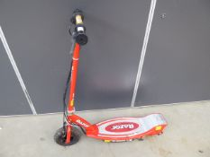 Razor red electric scooter
