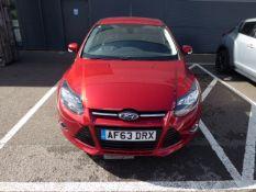 (2013) Ford Focus Titanium Navigator Auto, 5 door hatchback, petrol, 1596cc, in red, No previous