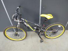 Apollo yellow & black bike