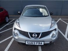 (2013) Nissan Juke N-tec 1.6 petrol, 5 door hatchback in silver, (Note Cat C insurance claim), MOT