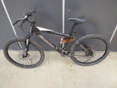 Black Carrera mountain bike (no pedals or shaft)