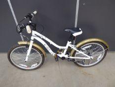 Gold & white girls bike
