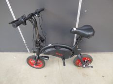 Jetson black and red electric bike, with charger