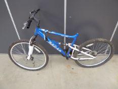 Blue Apollo boys mountain bike (no pedals or seat)