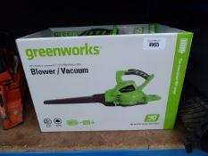 Greenworks blower/vacuum