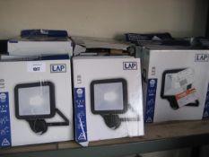 23 2400 lumen 30w LAP LED security lights