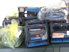 Large quantity of Erbauer 10w rechargeable work lights