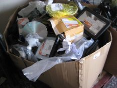 Large box of LAP security lights and wall lights