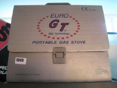 Euro GT portable gas stove in carry case