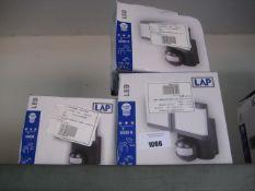 2 2x950 lumen LAP security lights with 1 1900 lumen security light