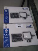 2 2100 lumen 1500w LAP solar powered floodlights